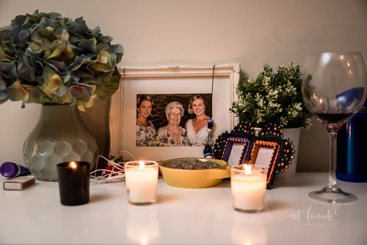 Candles and wine - Perth Birth Photographer
