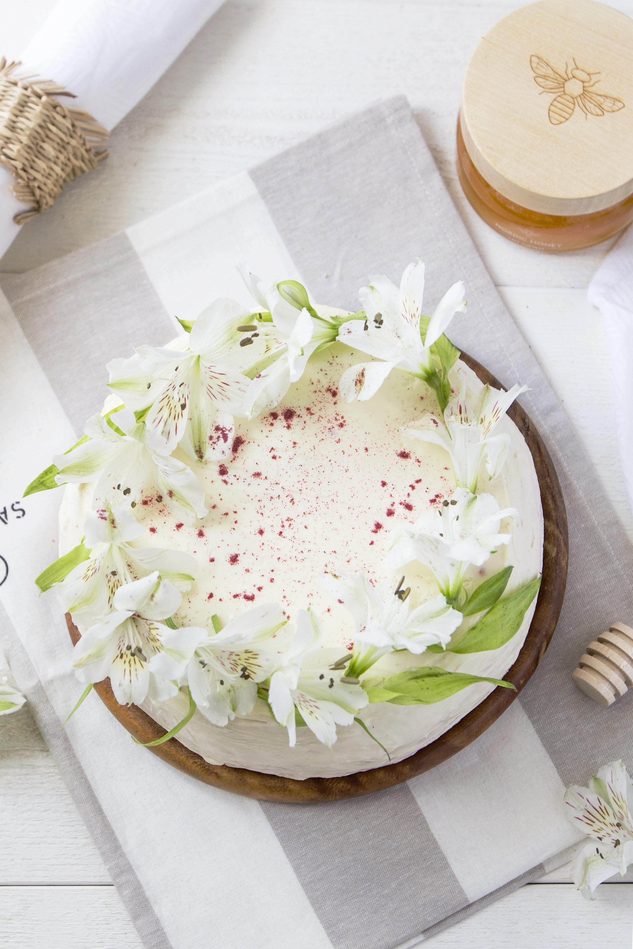 Nordic Honey_Honey Cake with Raspberries and Cardamom