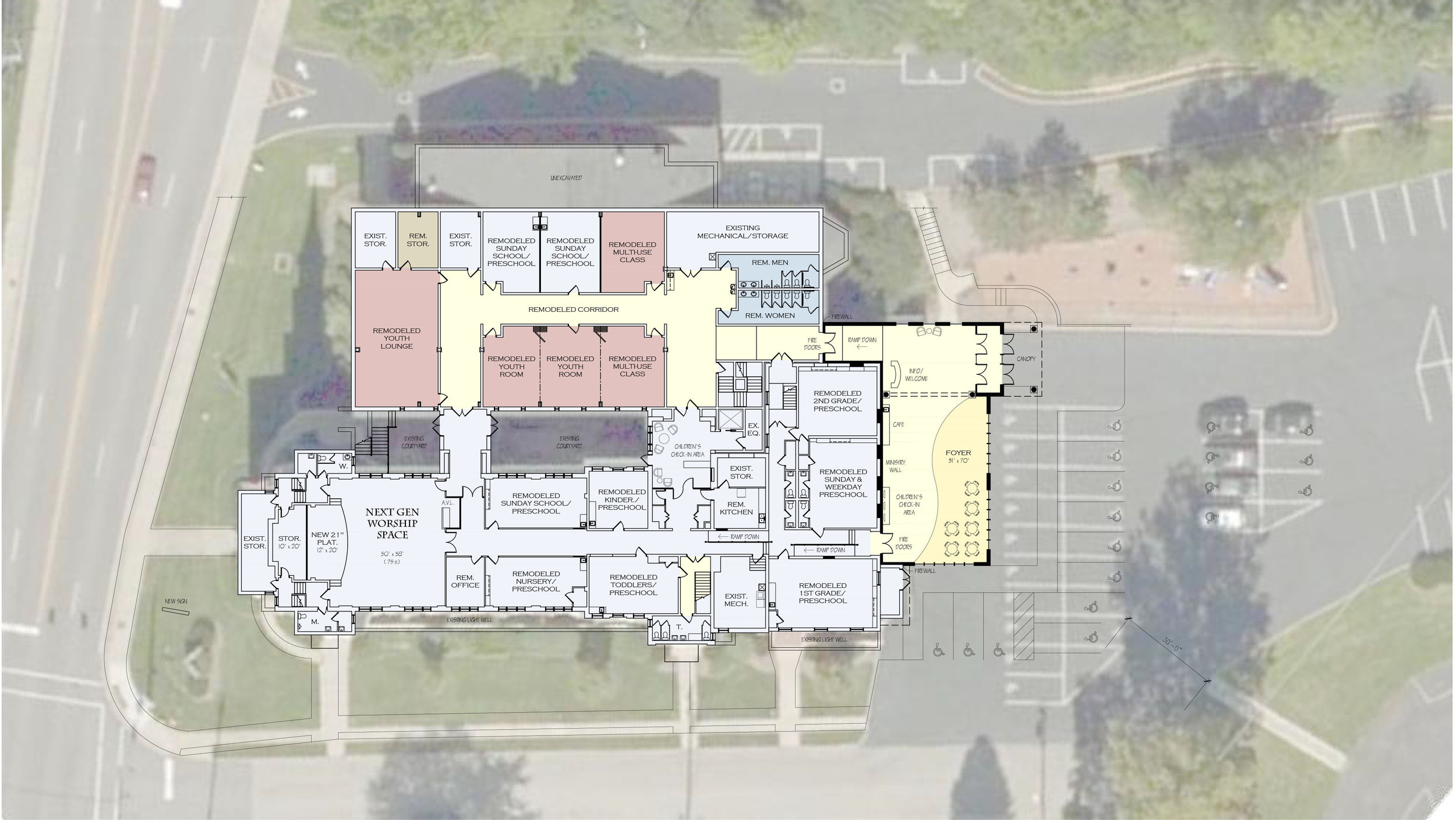 Proposed first floor renovations