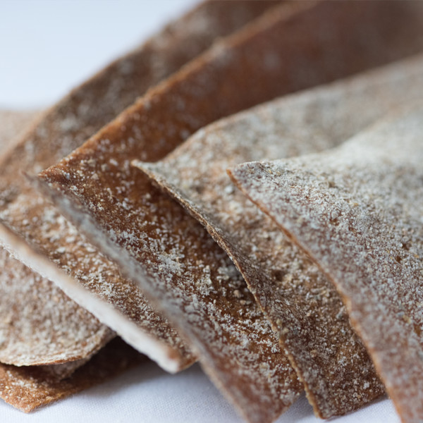 Rye Crackers  A Swedish inspired crisp bread made with rye flour and well matured levain as well as ling honey from the London Honey Company make for an addictive flavour and rewarding crunch.