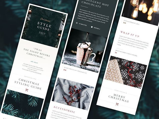 Mobile concept for the Christmas Style Guide 📱🎄