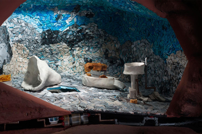 mosaic toilet model making