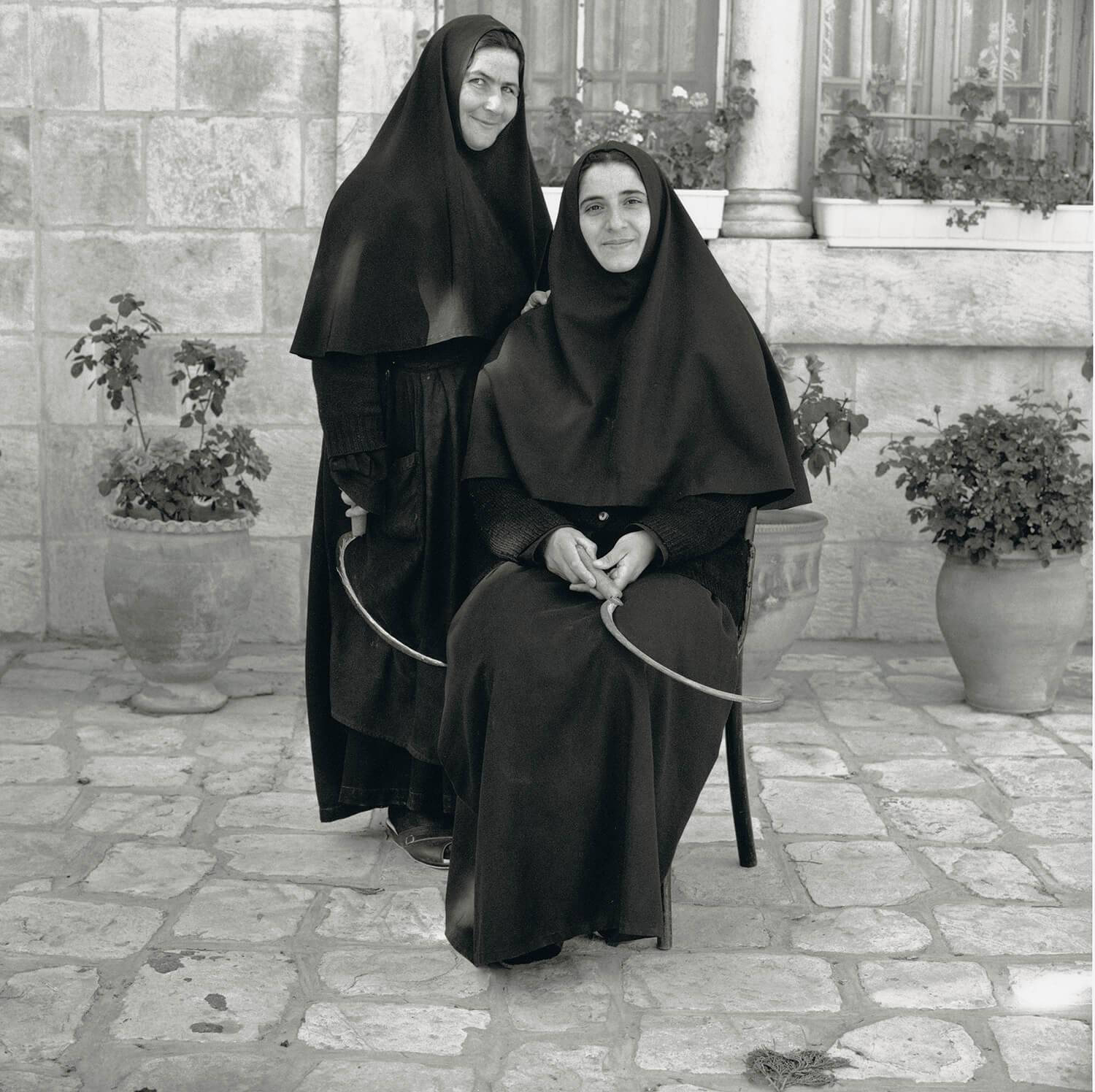 Sister Margaret and Sister Vadja, Russian Orthodox Church, Jerusalem.