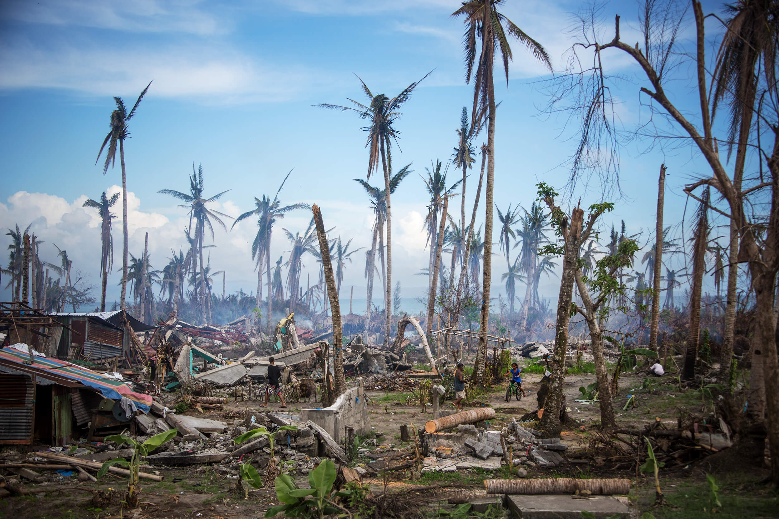 Philippines after Typhoon Haiyan November 2013.