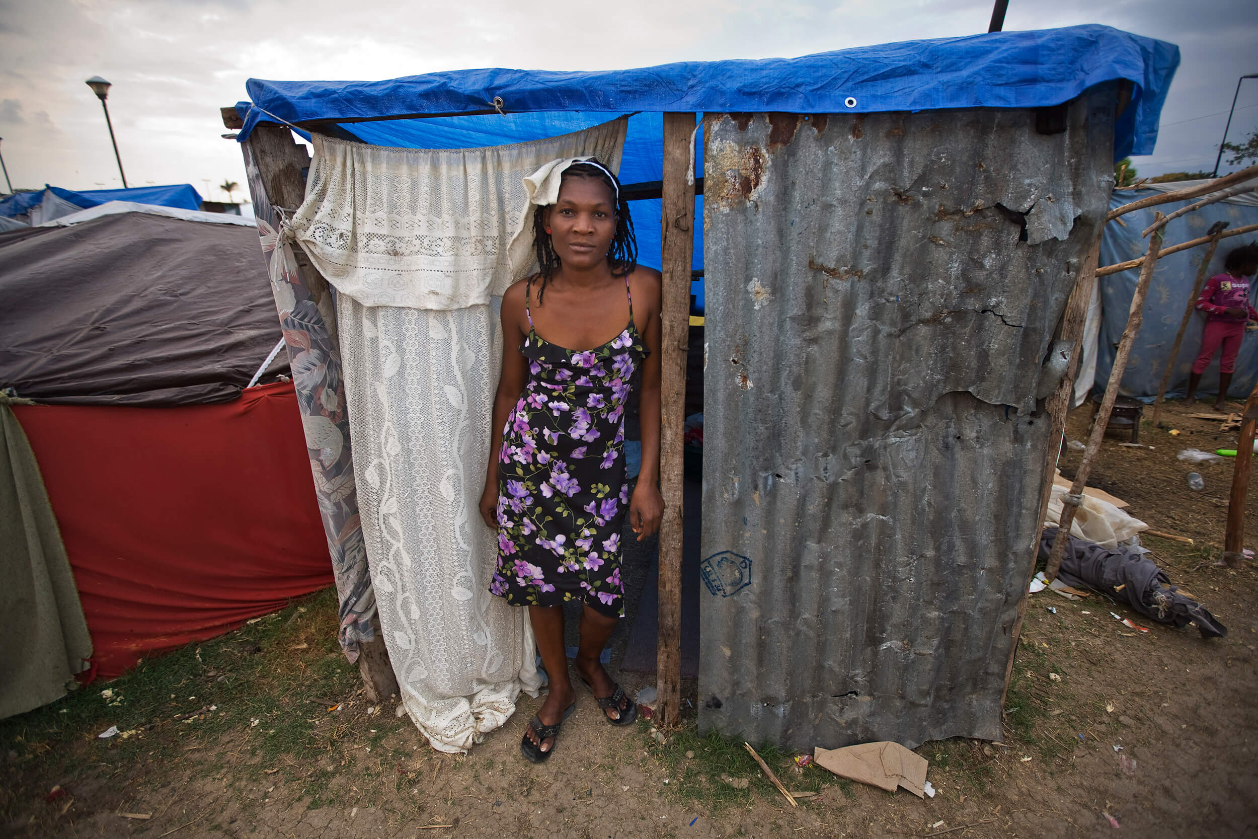 Somewhere to live, toilets and water supply must be arranged before the rain and the hurricane season hits the Haitians.