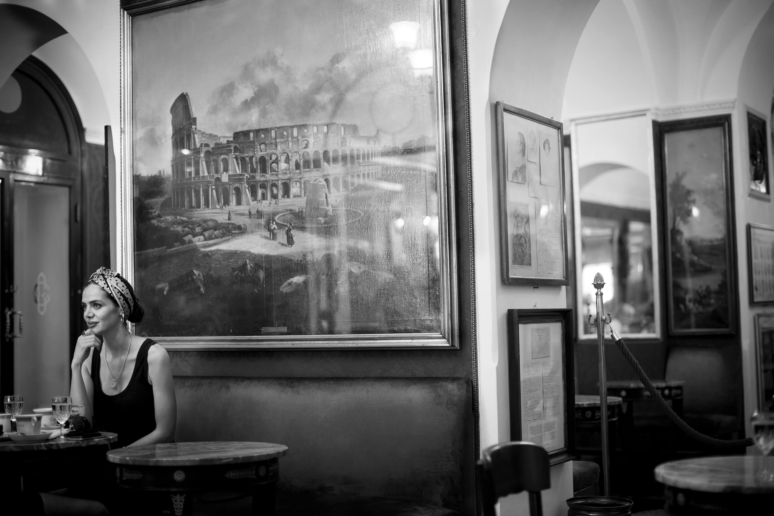 Caffè Greco, Italy, opened 250 years ago and is the oldest coffee caffet in Rome.