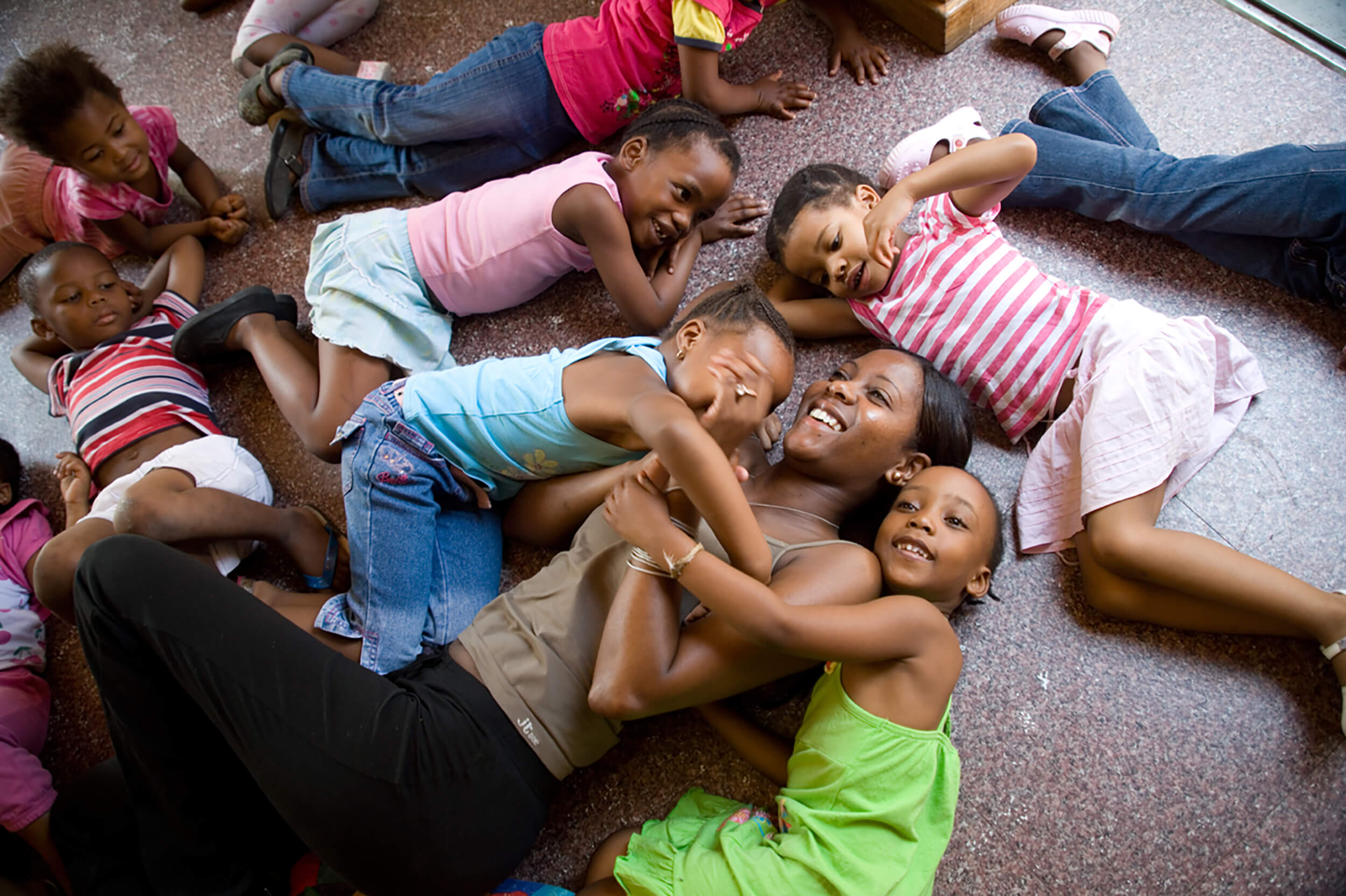 South Africa. Johannesburg. 75 of the children at the kindergarten in the township of Alex have a diagnosis HIV.