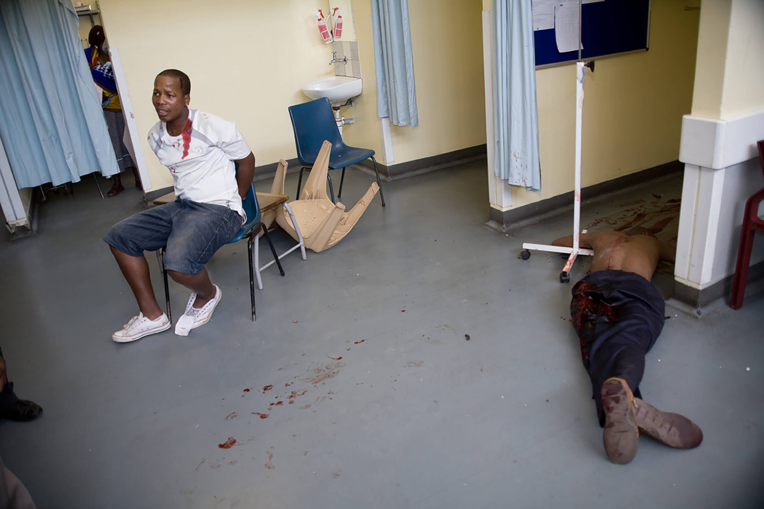 South Africa. Fifty people are dying to death every day in South Africa. Here in Alexandra Township in Johannesburg.