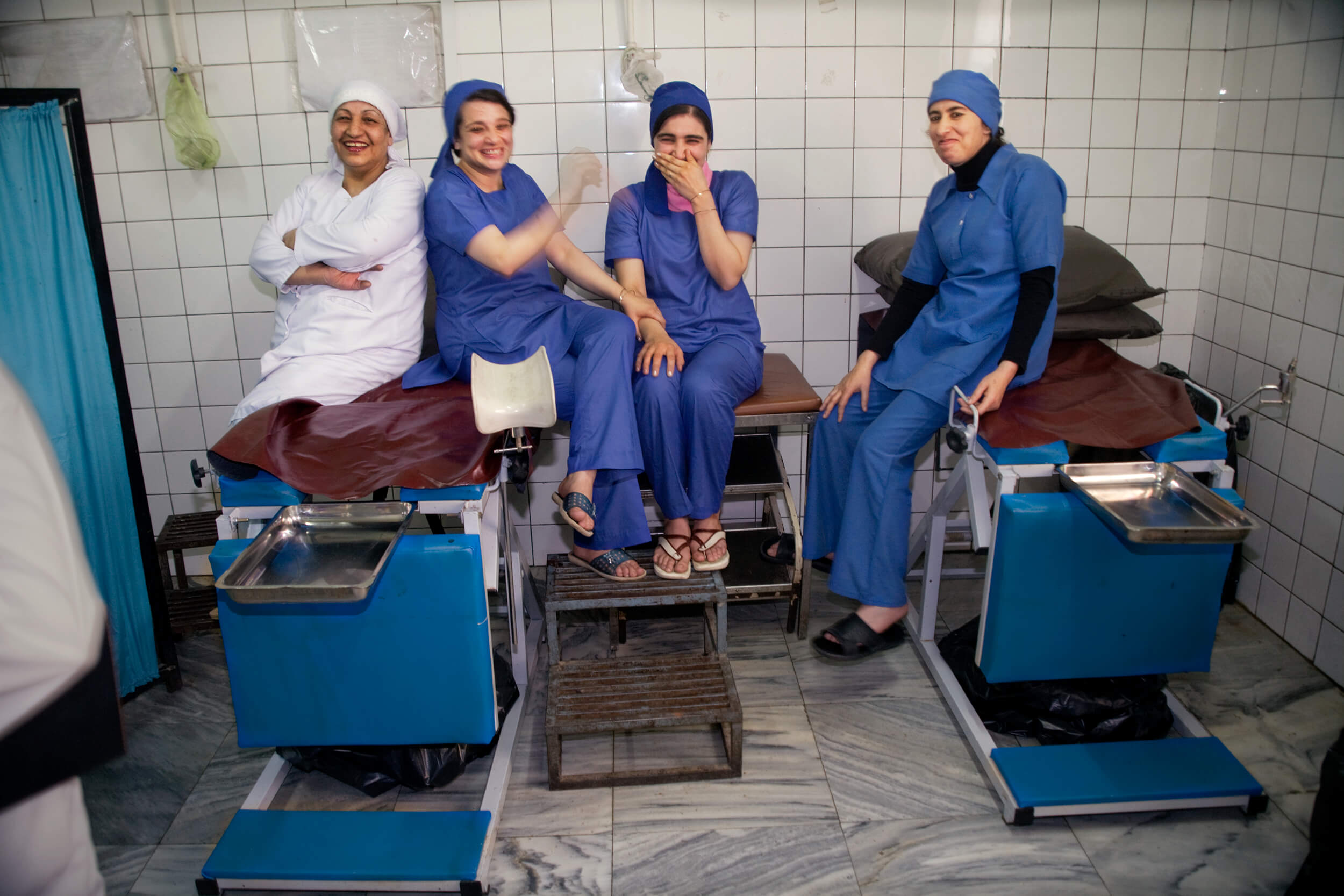 Afghanistan. Midwifs at the Women's Hospital in Kabul.