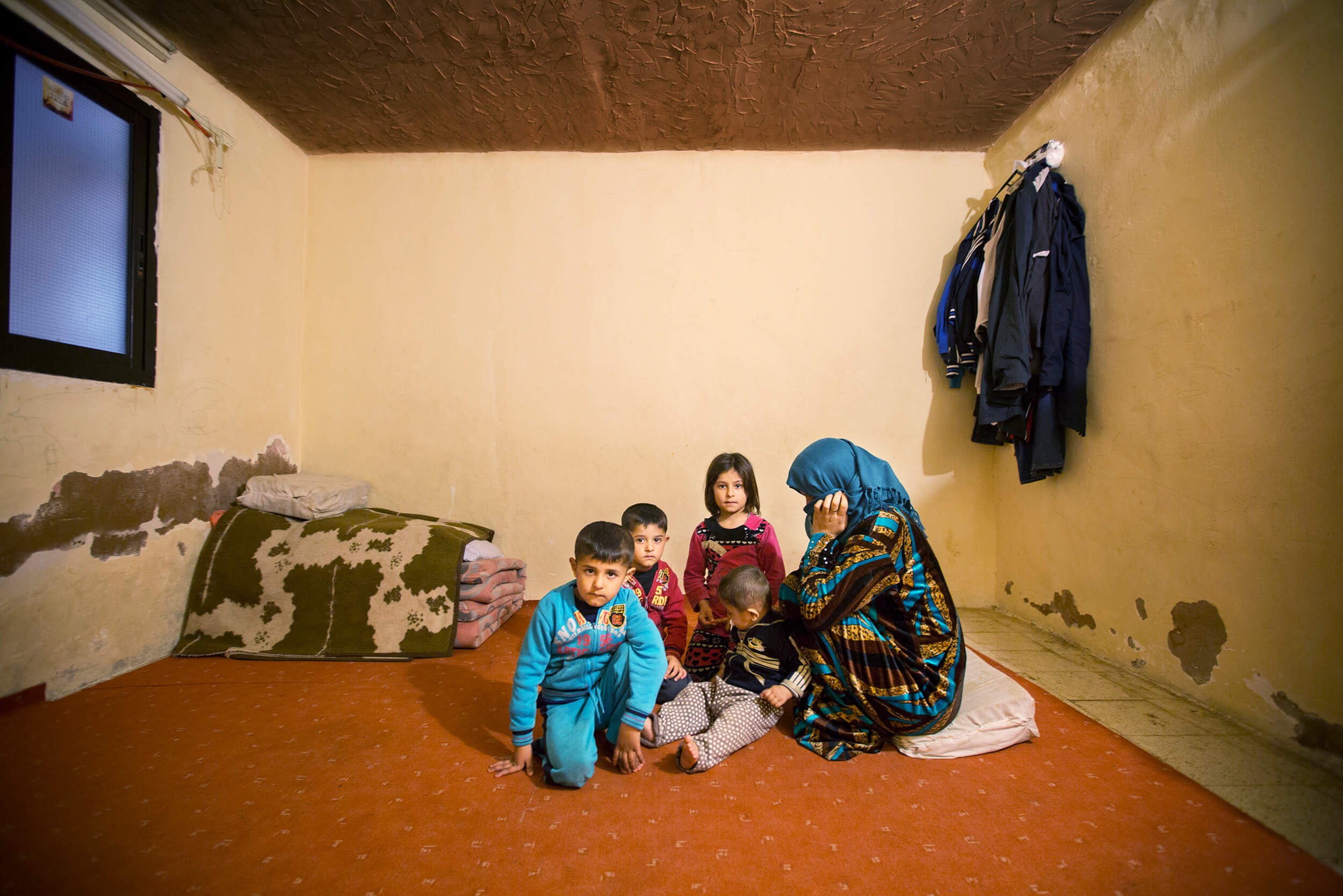 The refugee camp MAR ELIAS in Beirut in 2016. The family fled from Aleppo in Syria.