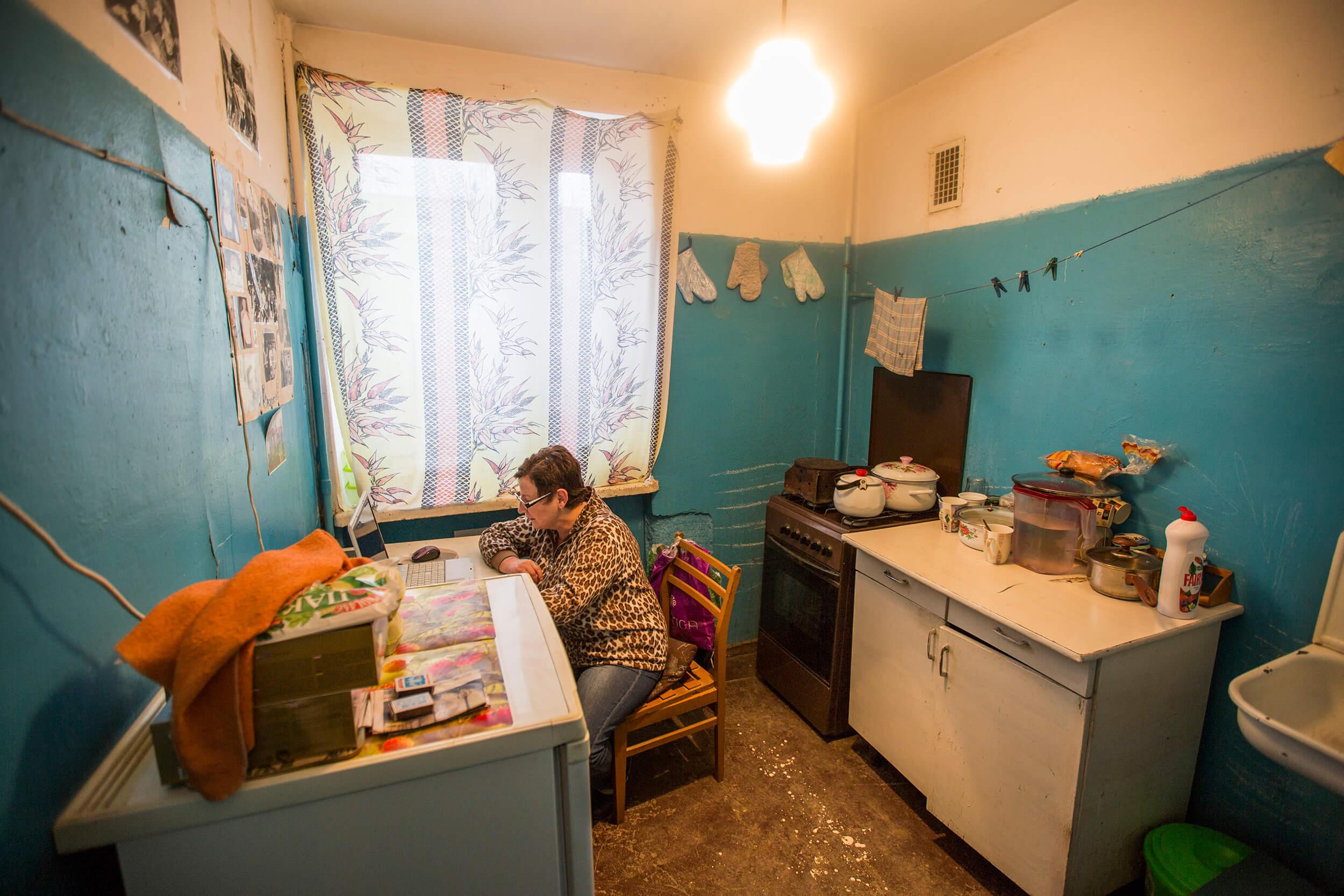 Raisa in her home in Simferopol.