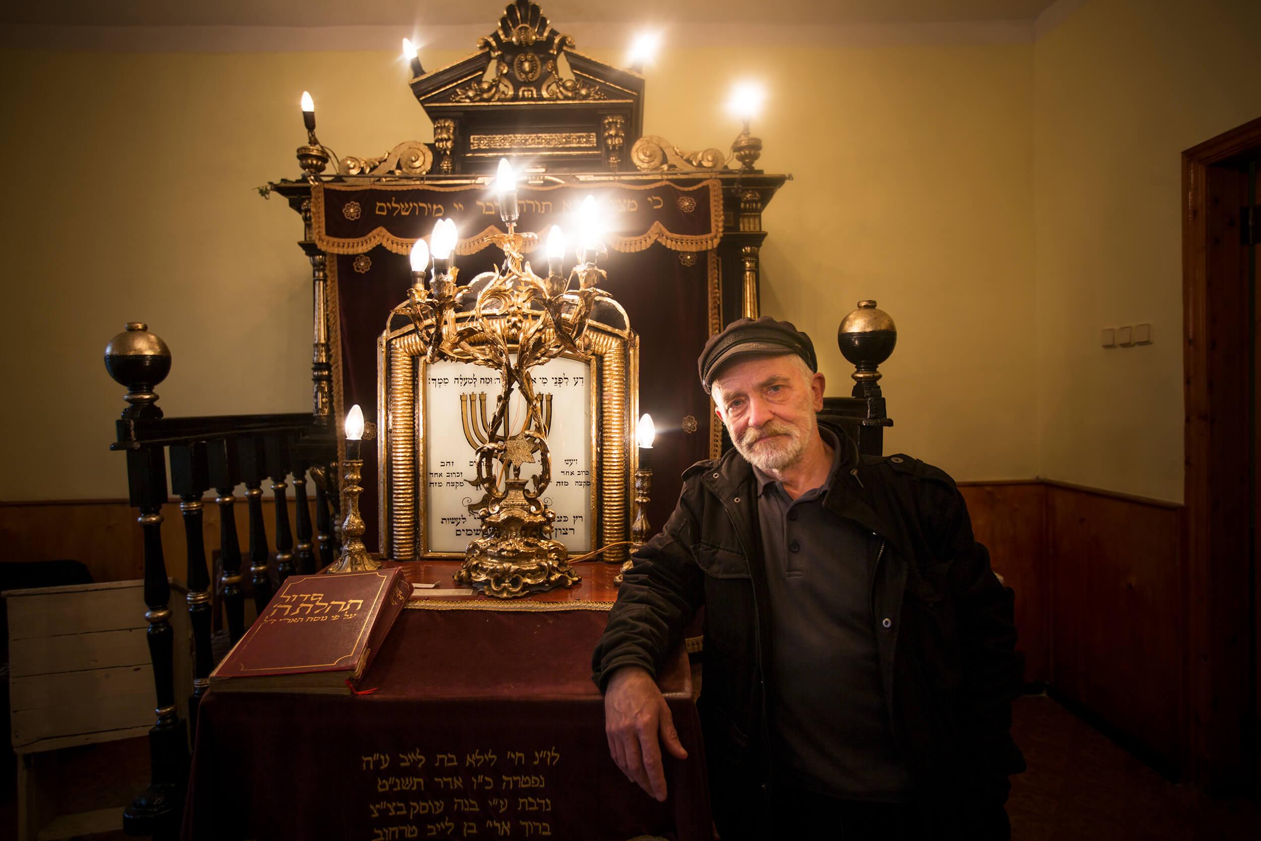 Boris in the synagogue in Simferopol.