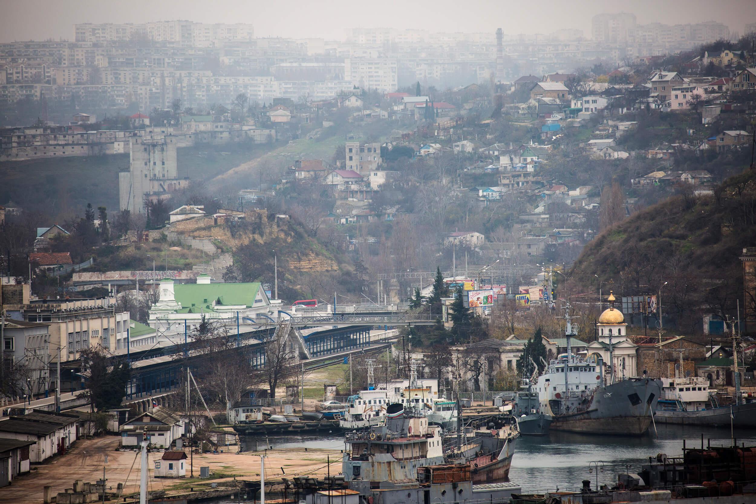 The city of Sevastopol in the Crimea.