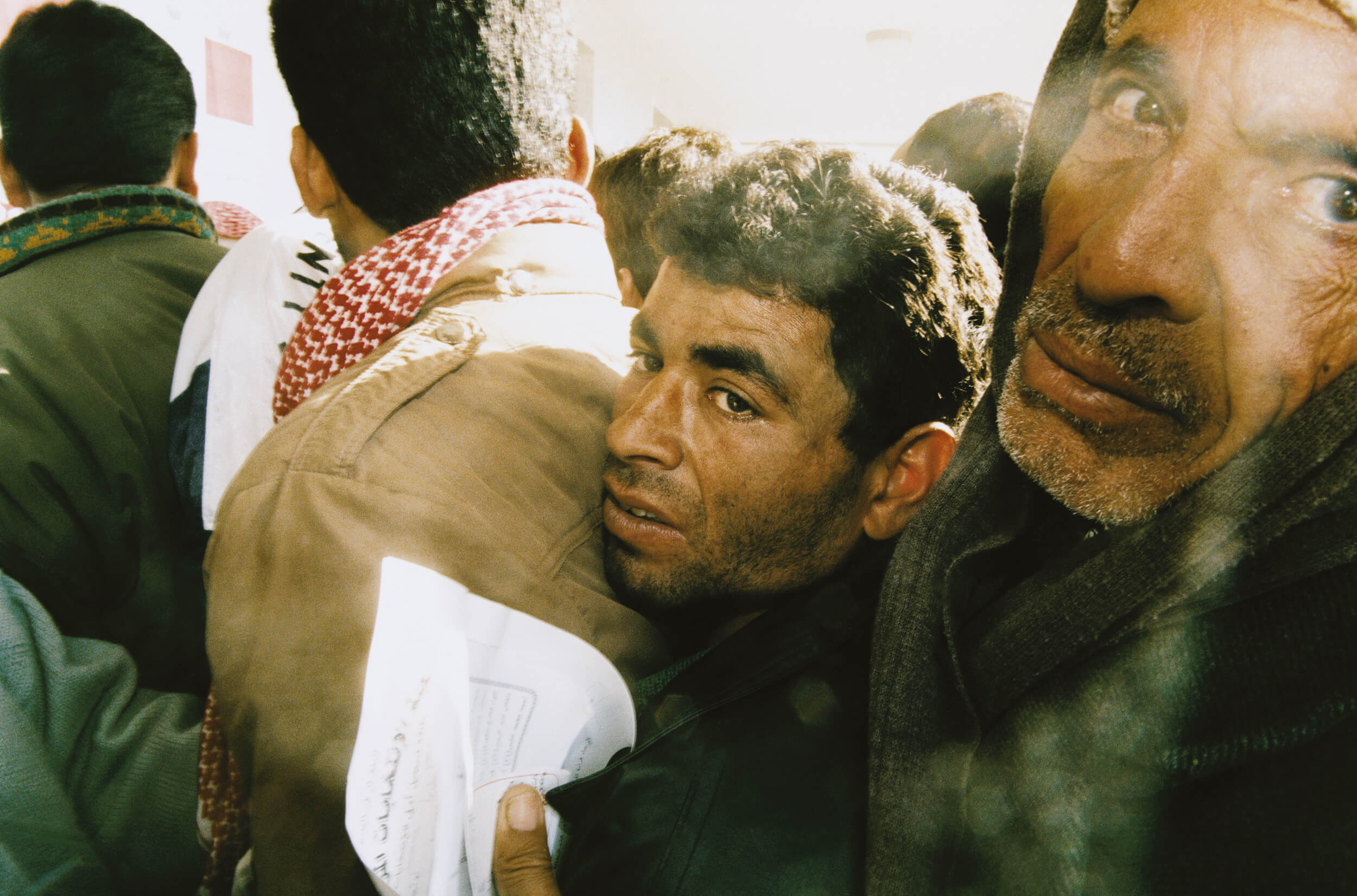 Gaza January 1996. Palestinians vote in the first Palestinian elections ever.