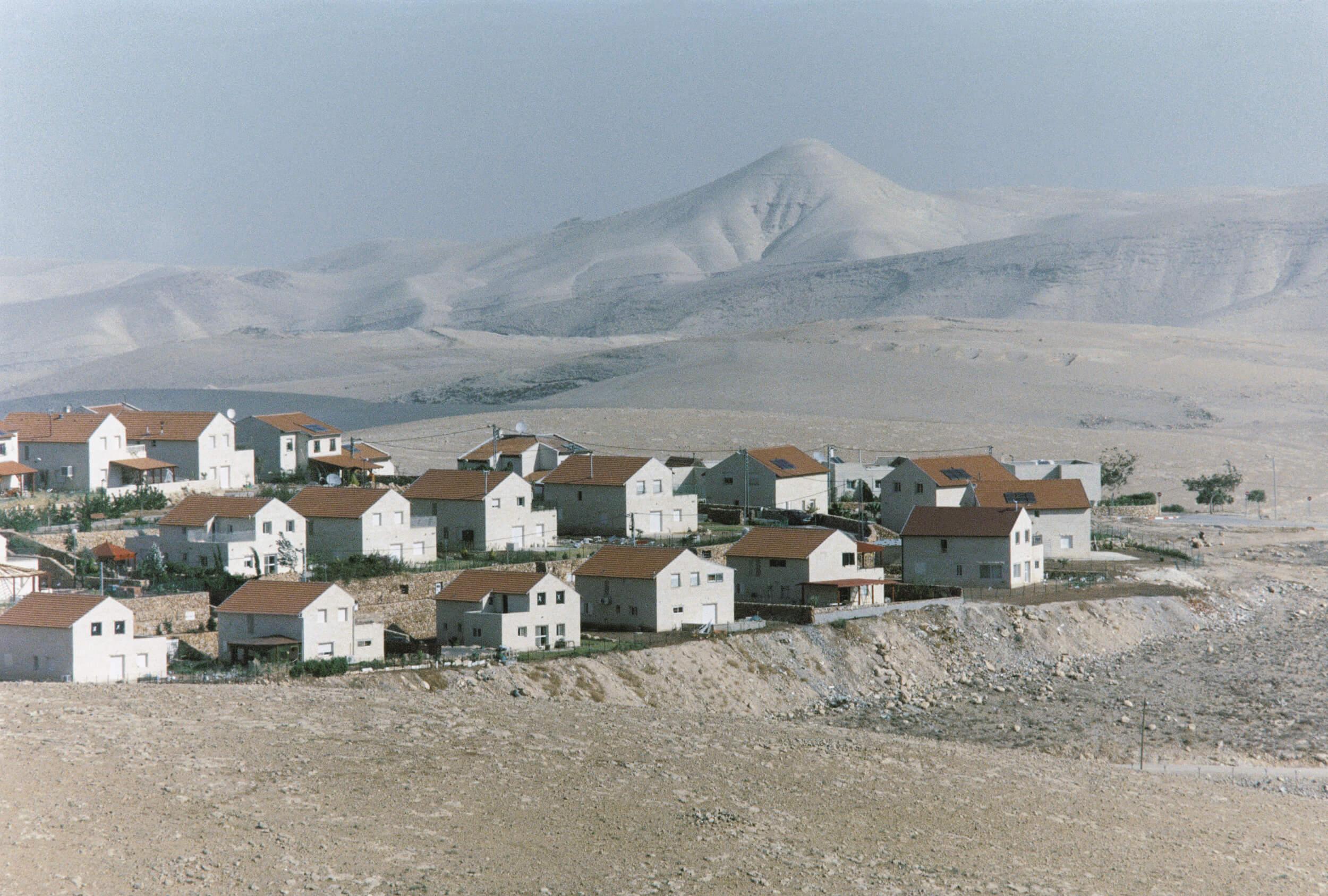 Westbank. The Israeli settlement Kedar