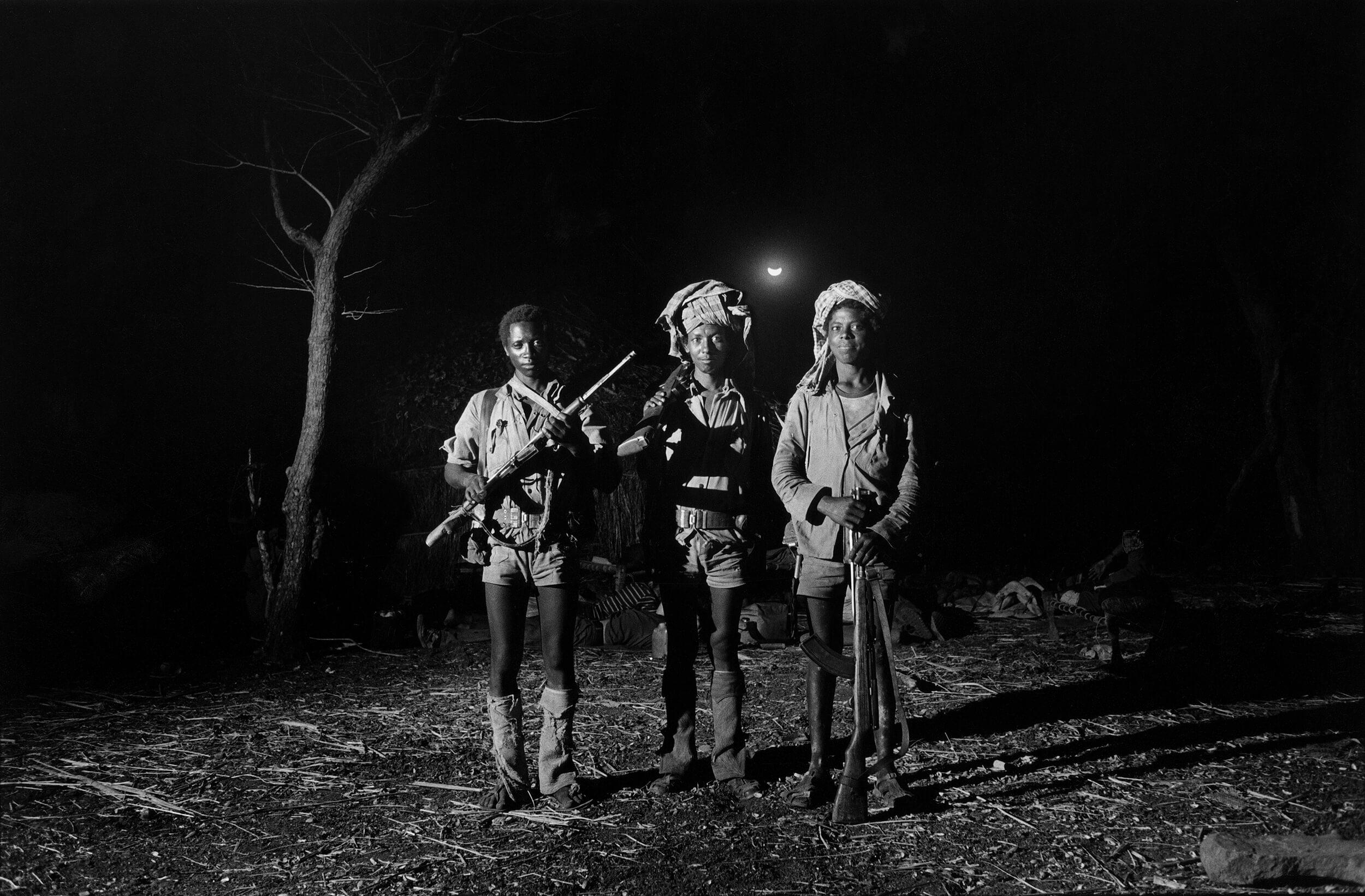 Gerilla warriors from the Ethiopian resistance group EPRP in Gondar Province 1987.
