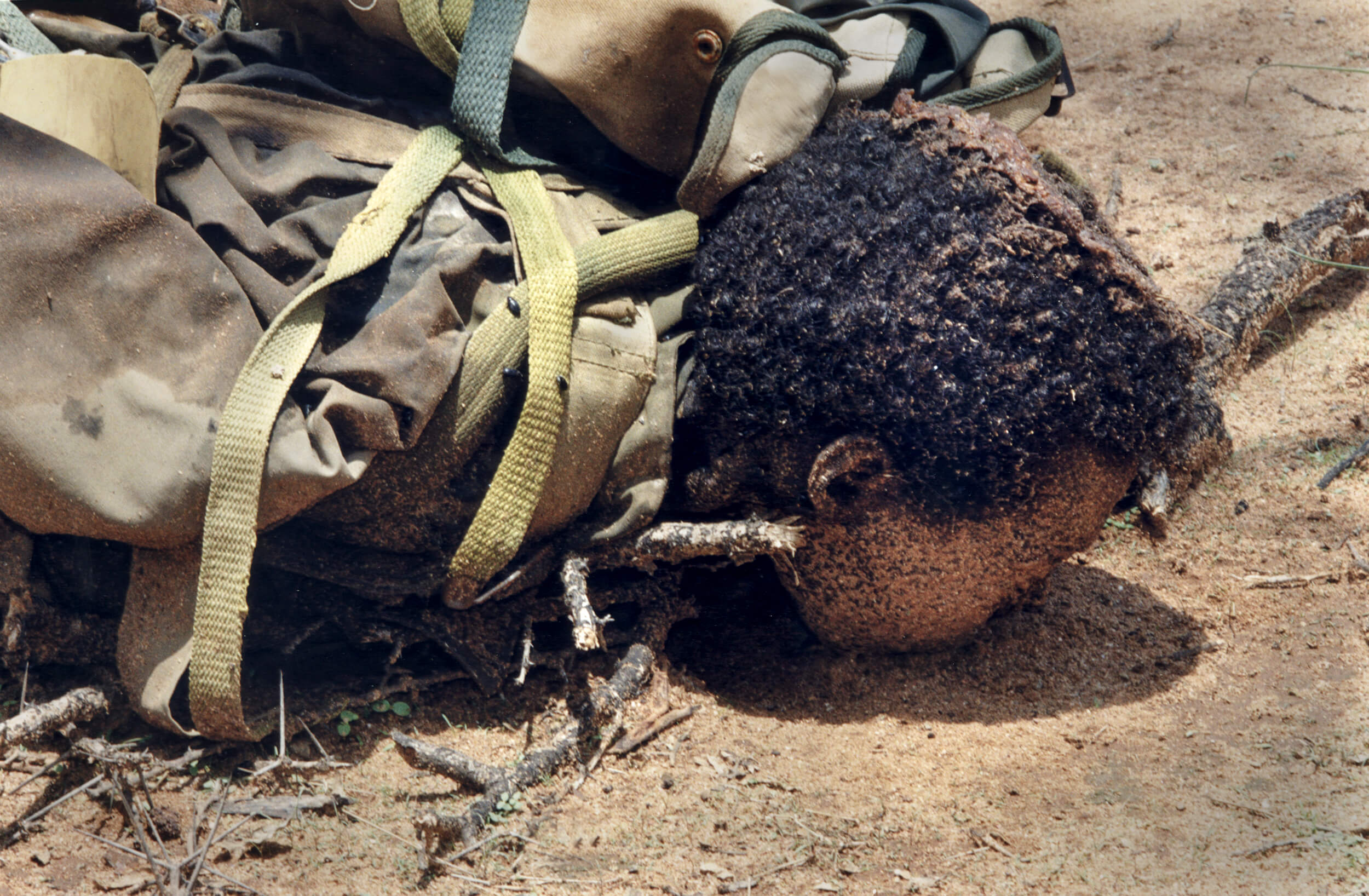 Ethiopian child soldier fallen at the Tsoronfront.