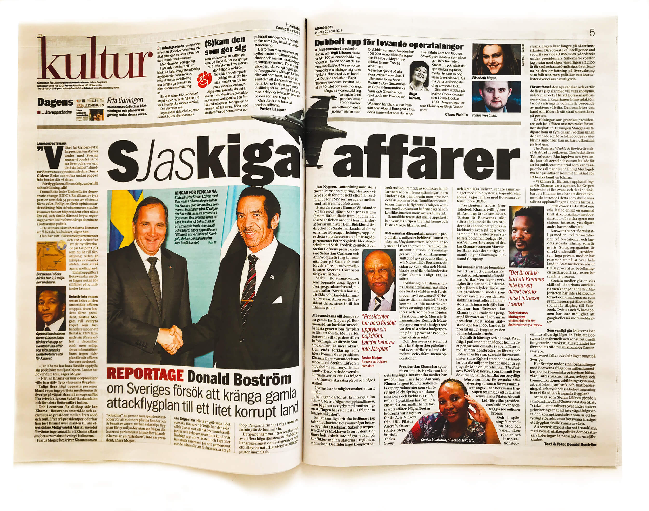 Aftonbladet 25 april 2018.
