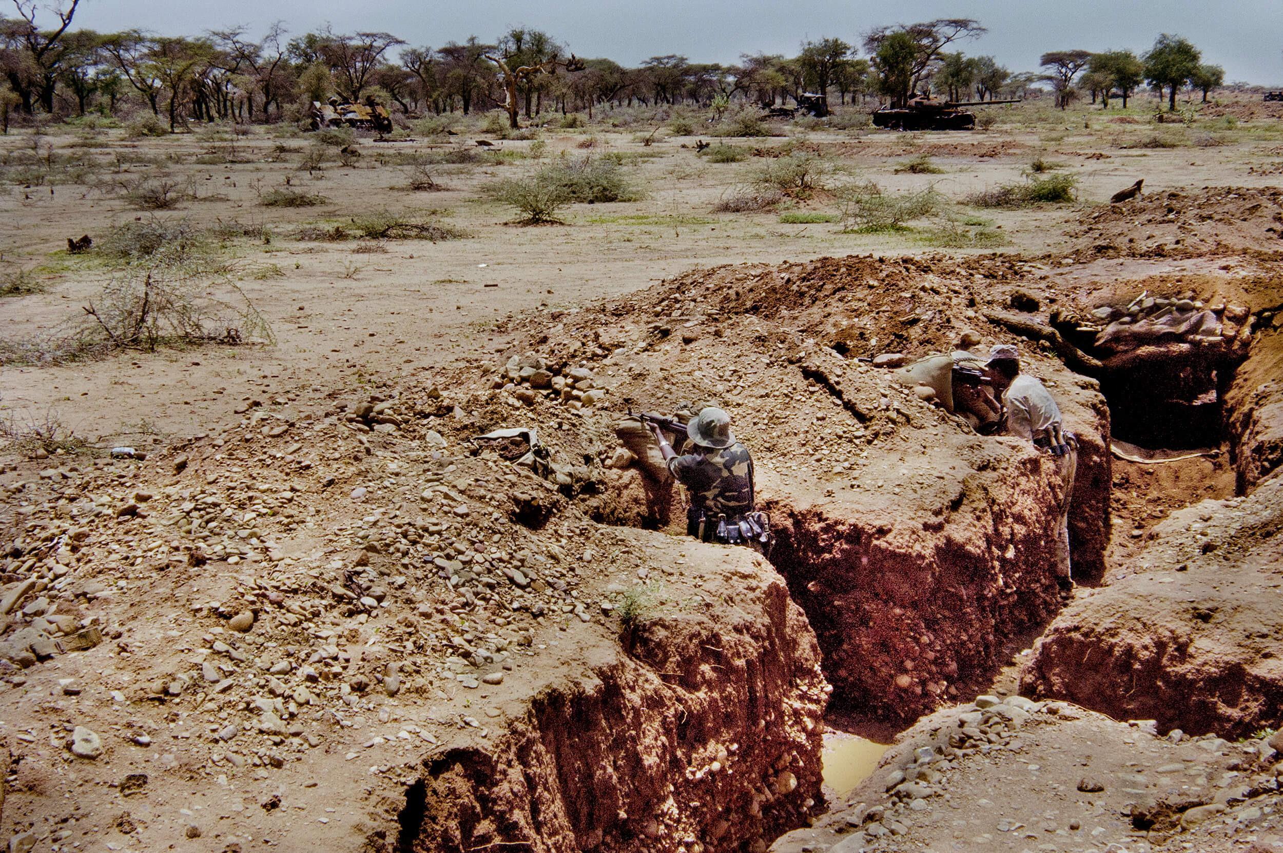 Kriget 1998. Eritreanska soldater vid Tzoronafronten.jpg