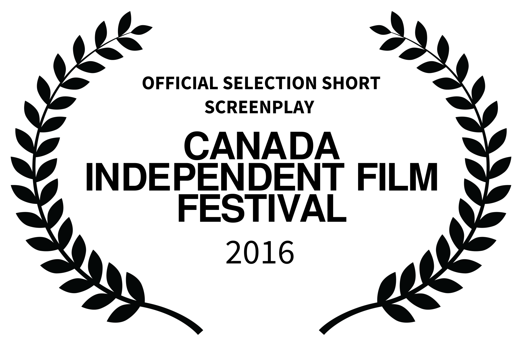 Black OFFICIAL SELECTION SHORT SCREENPLAY  - CANADA INDEPENDENT FILM FESTIVAL - 2016 copy.png