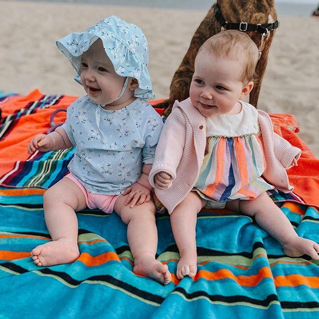 Our little ladies. #beachbabes