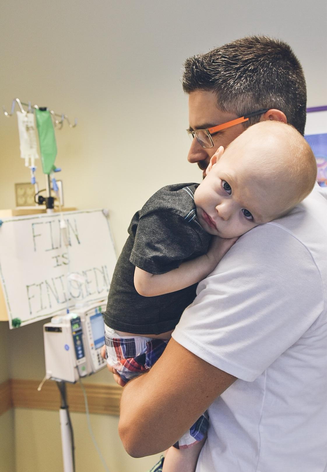 Finn's last treatment!