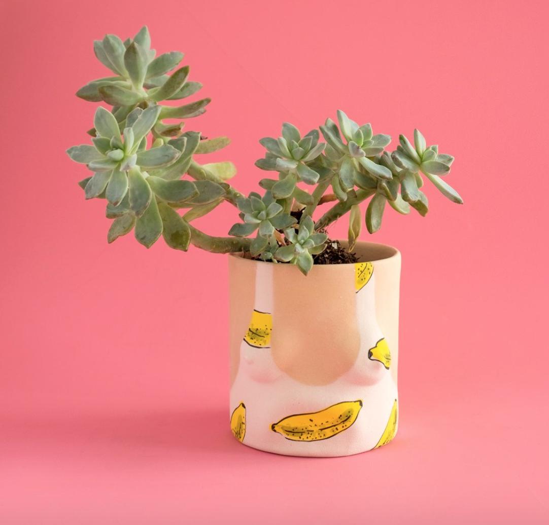 Pot ''Banana bathing suit''