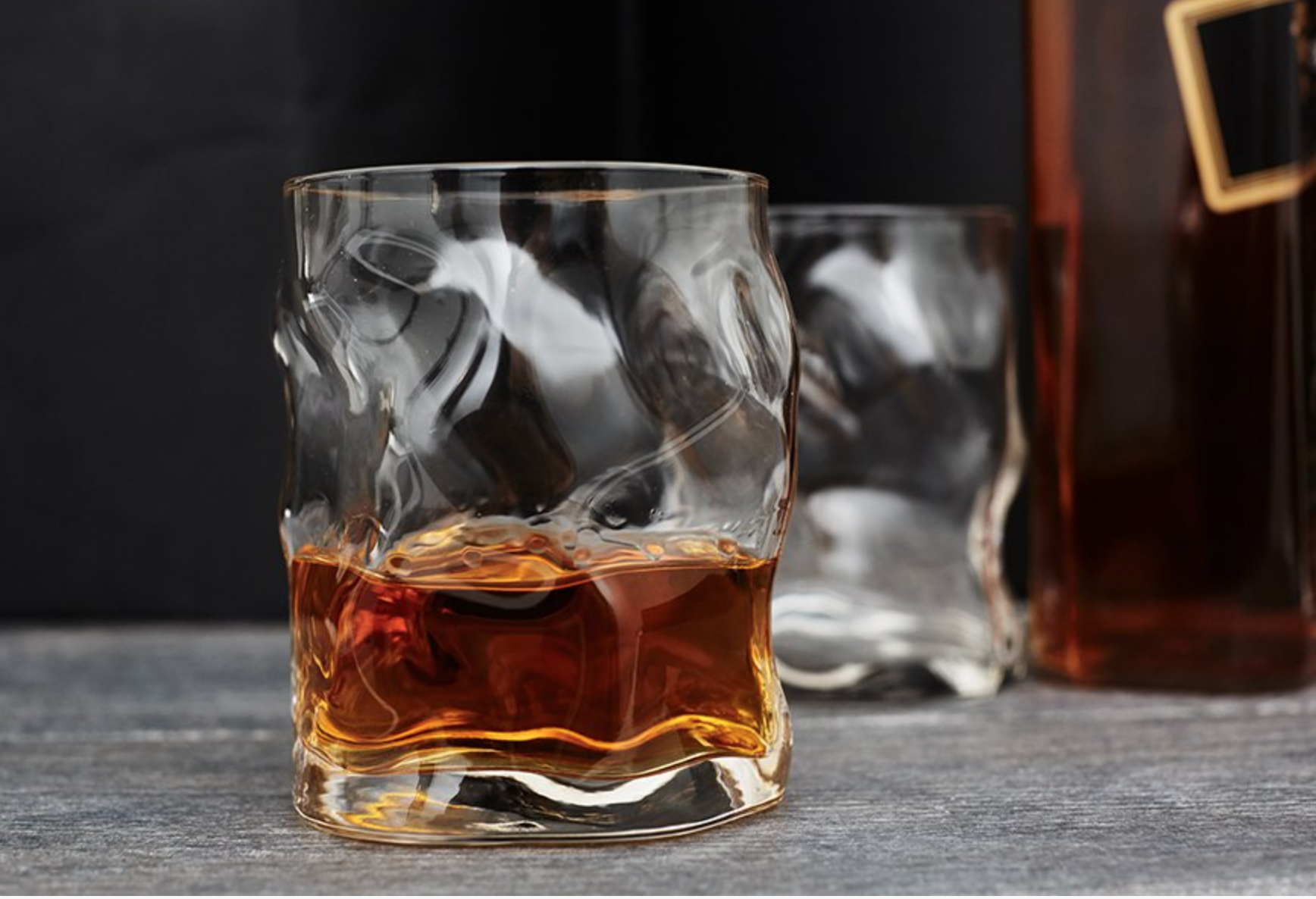 3 • Melted Whiskey Glasses