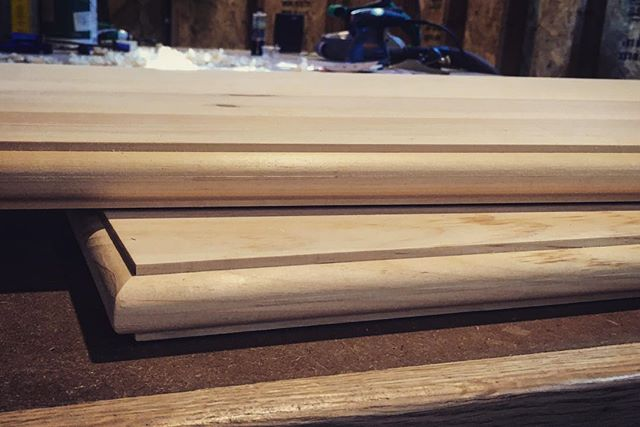 Working these tops over today. And thanks to HGTV, they'll be painted white. 😭 #woodworking #carpentry #handmade #builtins