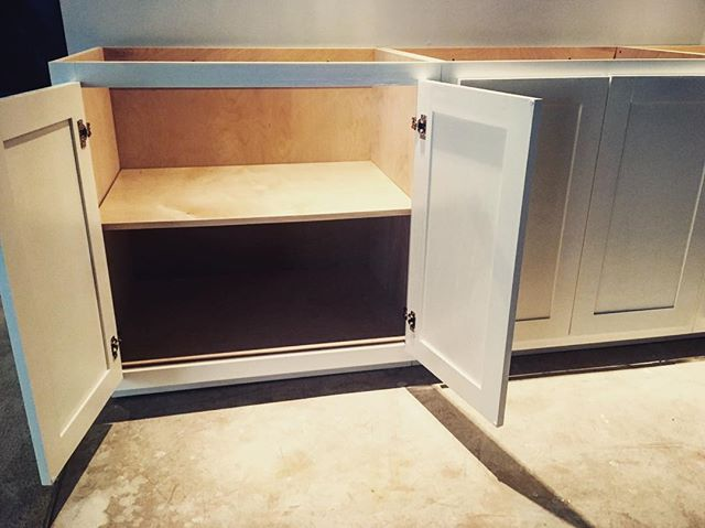 Back from vacation, back to work, and carved out a few free hours to install these custom cabinets in a basement renovation. Gotta love flat-ish floors and plumb-ish walls! #woodworking #carpentry #handmade #cabinetry #custom #birch