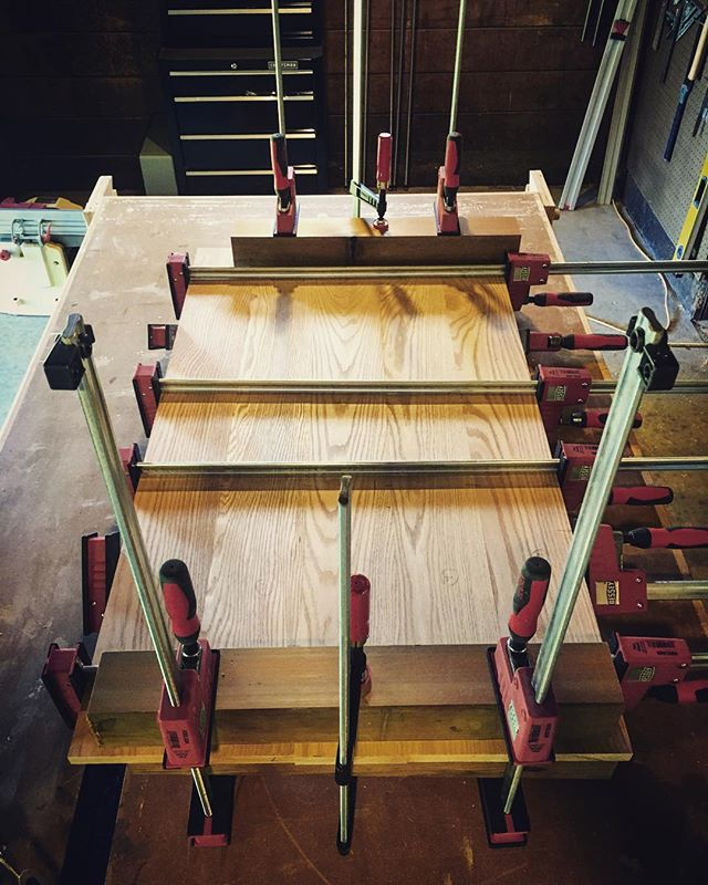 The beginnings of a project that WON'T BE PAINTED WHITE! #woodworking #carpentry #handmade #oak #besseyclamps
