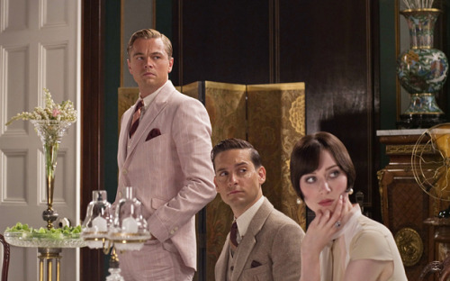 (Doesn't  [Leonardo DiCaprio] Jay Gatsby just look great in that pink suit?)