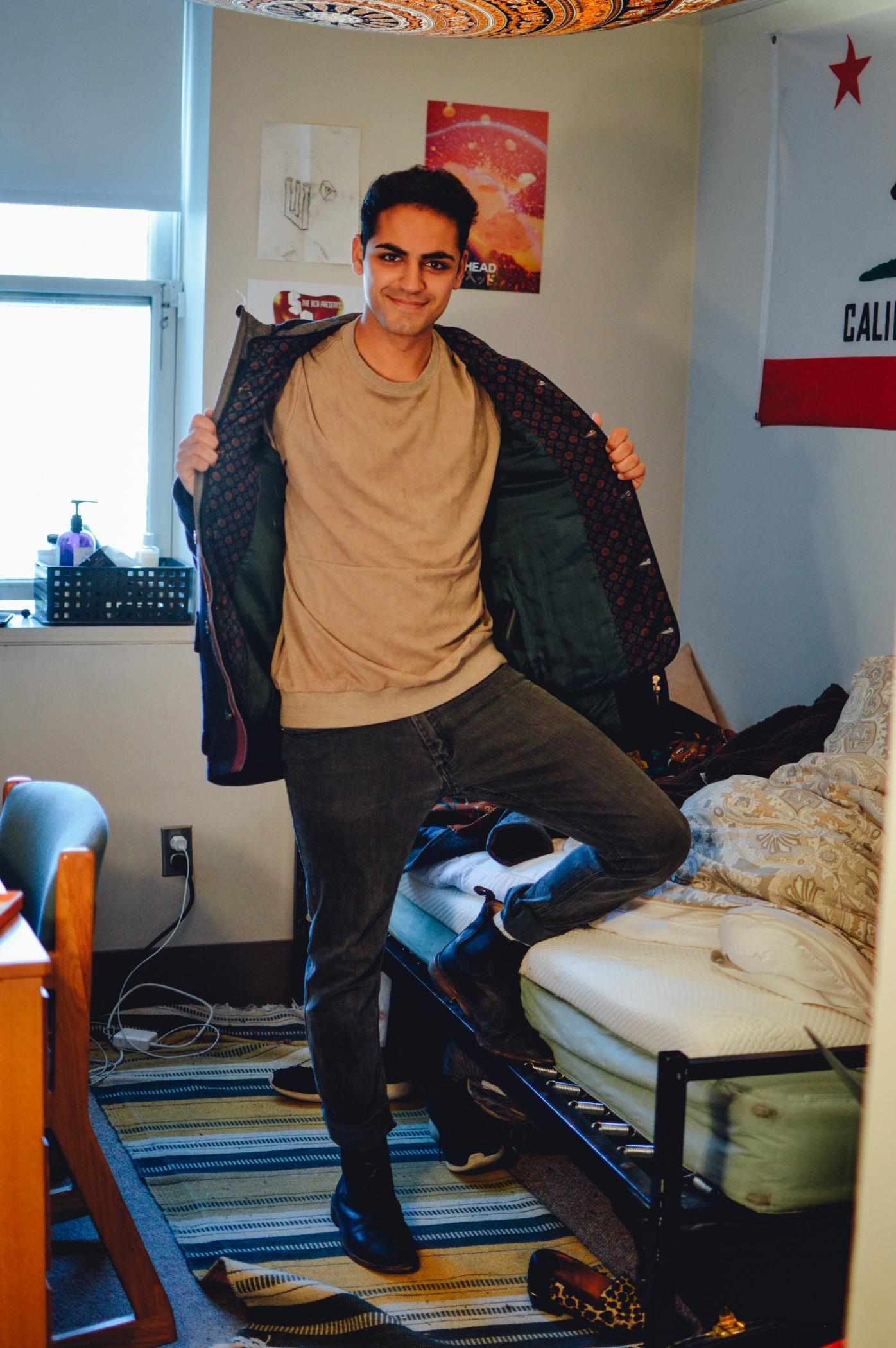 Coat: Ted Baker, Sweatshirt: Shades of Grey