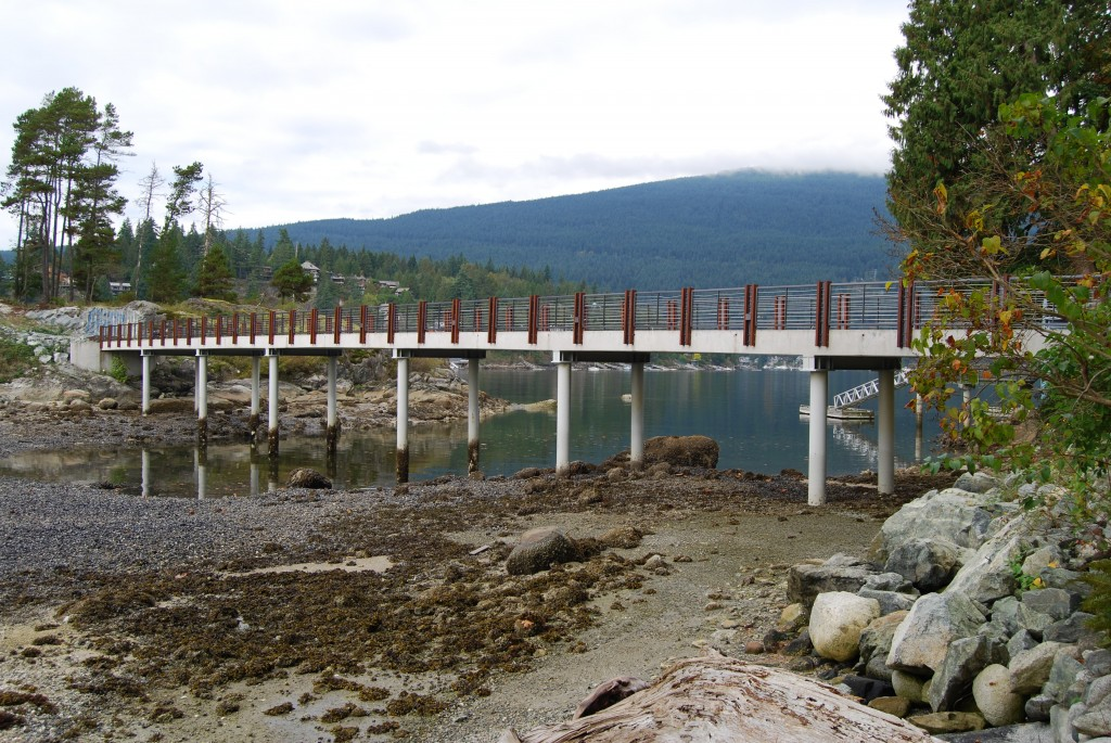 Bridge to private residence, Hamber Island BC (Karl Gustavson Architect)