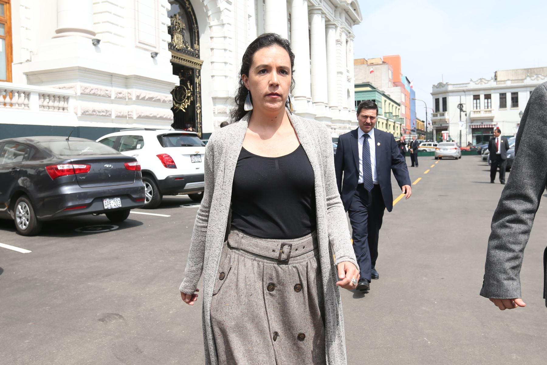 Marisa Glave, a member of Frente Amplia Source:  adina.pe.com