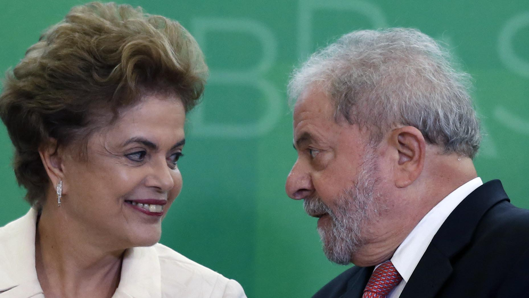 Impeached Brazilian President Dilma Rousseff & former Brazilian President Luiz Inacio Lula da Silva. Source:  Bloomberg