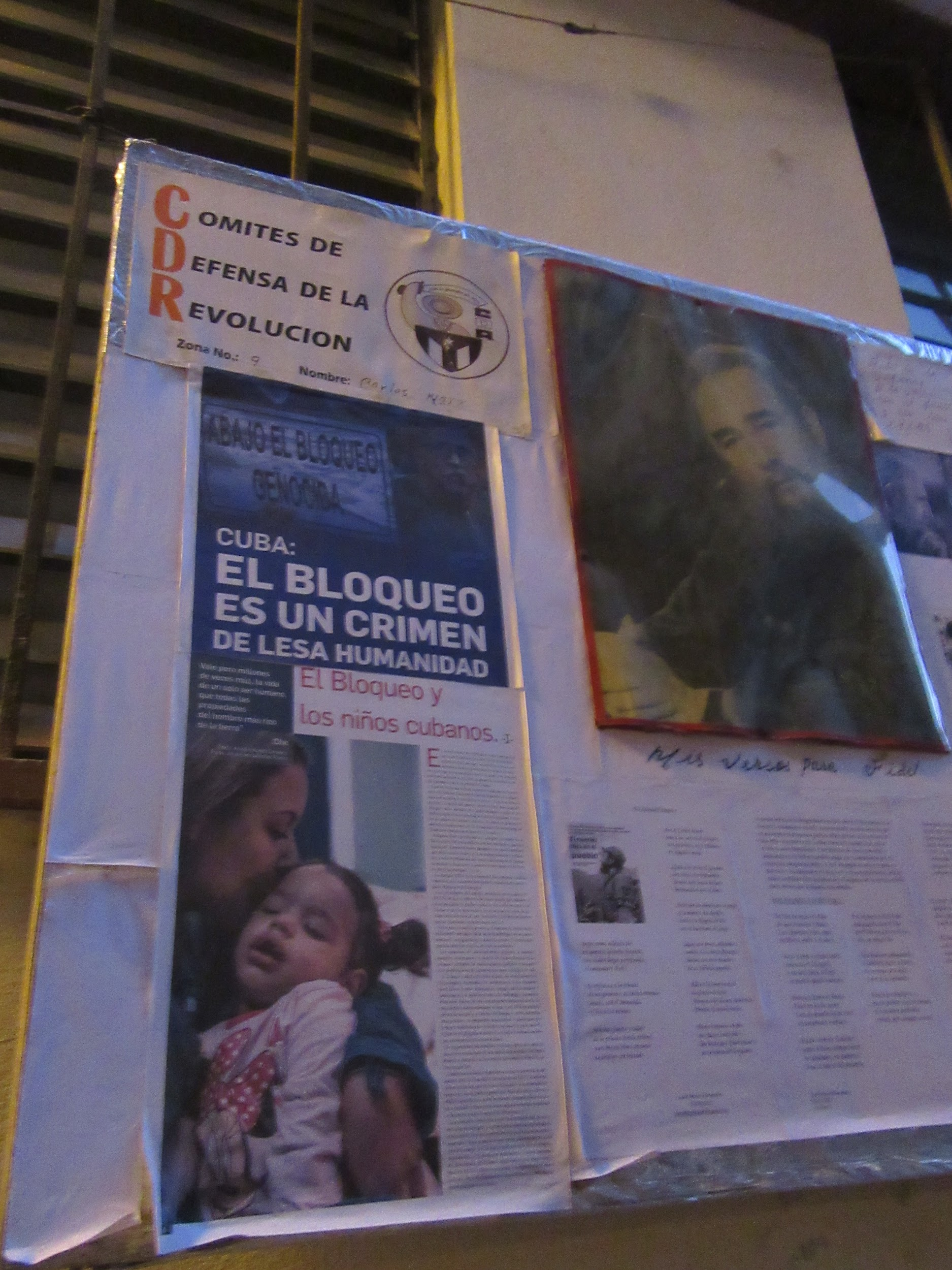 Posters criticizing the American embargo