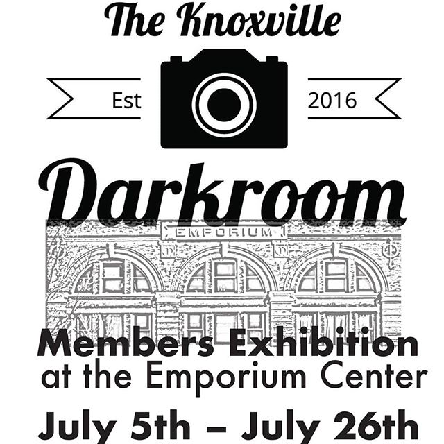 Don't Forget! Email us your work for consideration to be included in this FREE show by 🕛 MIDNIGHT Sunday, June 2nd!  Theknoxvillecommunitydarkroom@gmail.com