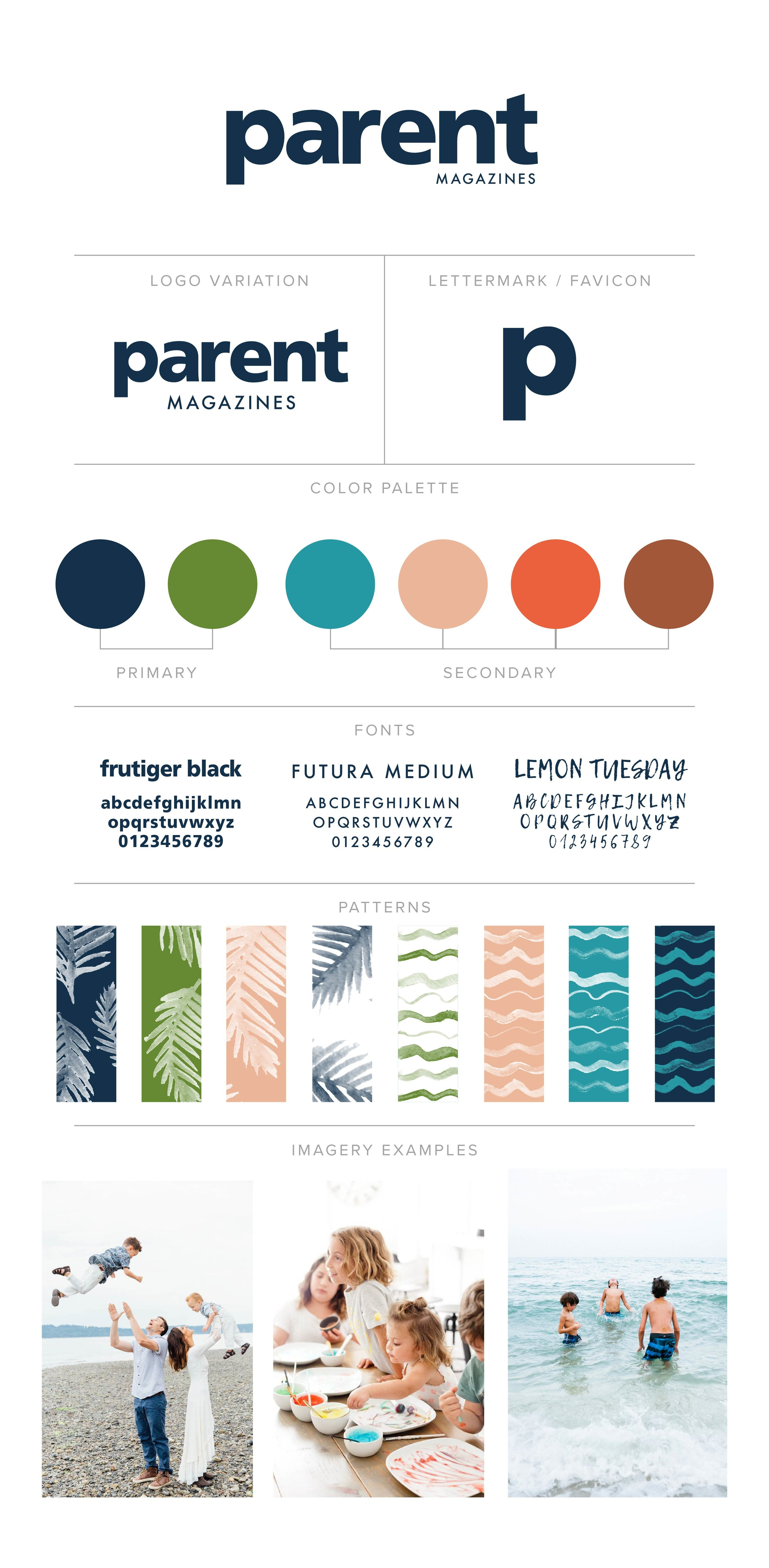 CE Studios: Branding, brand refresh, custom illustrations for parents' magazine