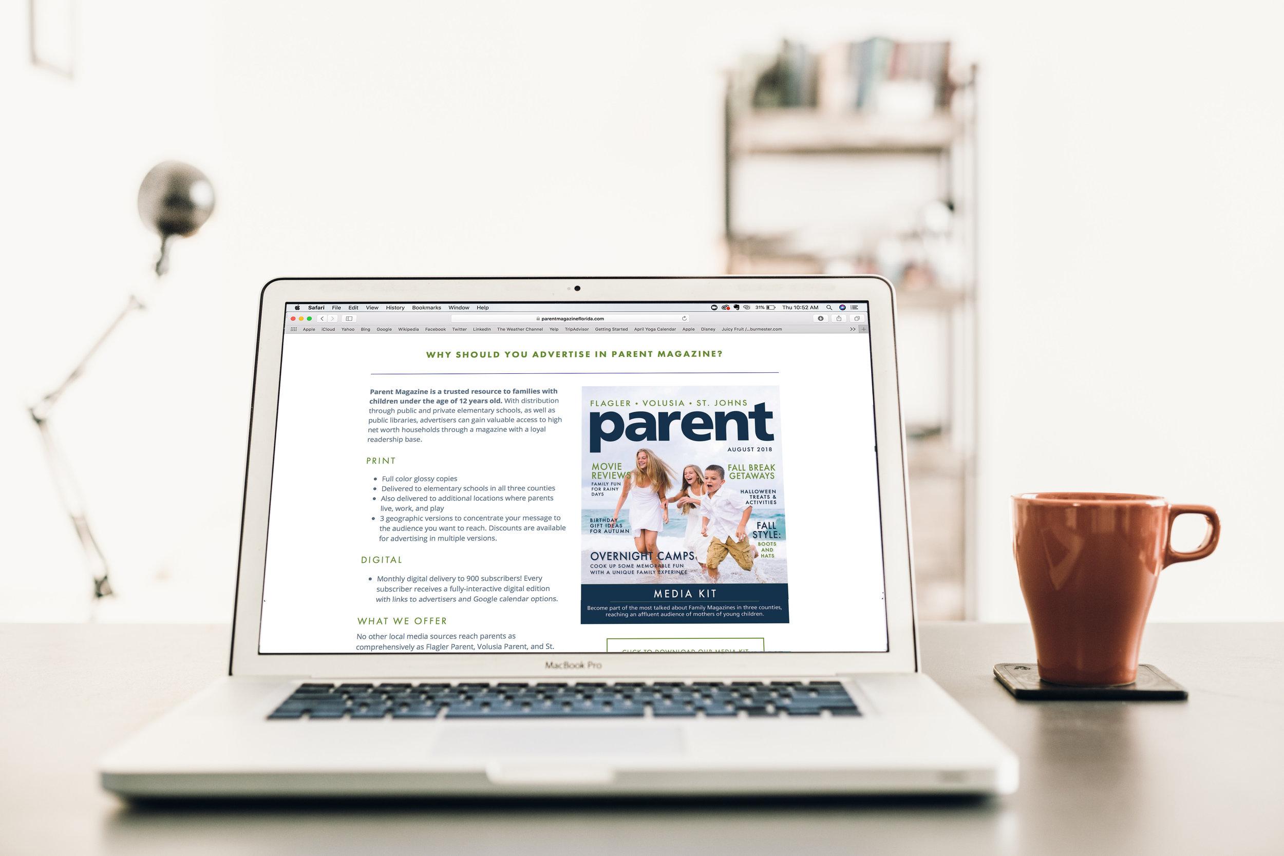 CE Studios: Branding, brand refresh, website design for parents' magazine