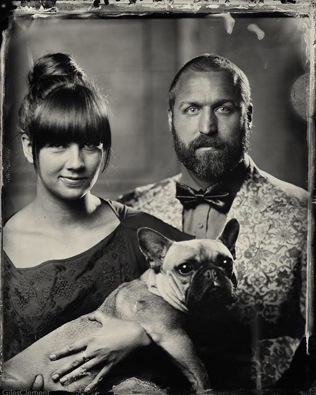 The olden days back when we were a family of three and I had bangs. I realized I've never posted our tintype by @gilesclement. I love this shot so much!