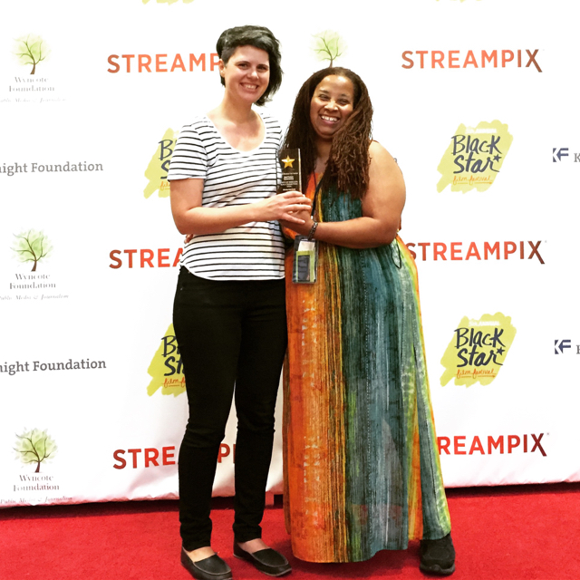 Giovanna Chesler and director Zeinabu irene Davis at Blackstar Film Festival, Philadelphia, PA 2016