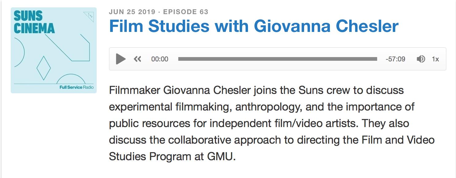 Suns Cinema Podcast Giovanna Chesler