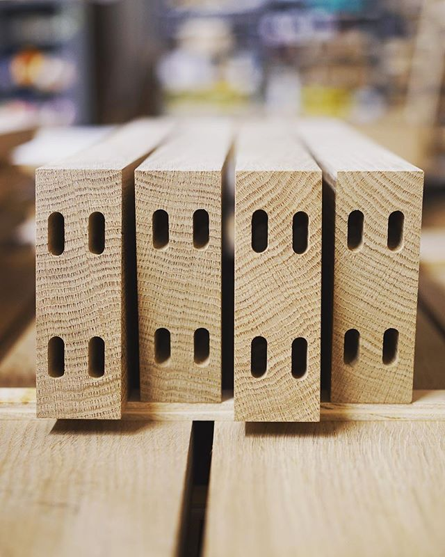 Shipping these outlets off today to Underwriters Laboratories.  Pretty sure they'll be UL listed on the first round of testing.  If they fail, they'll be used for a door.  What are our odds? . . . . . #woodworking #ungrounded #brooklynmade #madeinbrooklyn #badesoterichumor #festool #festooldomino #dominoxl