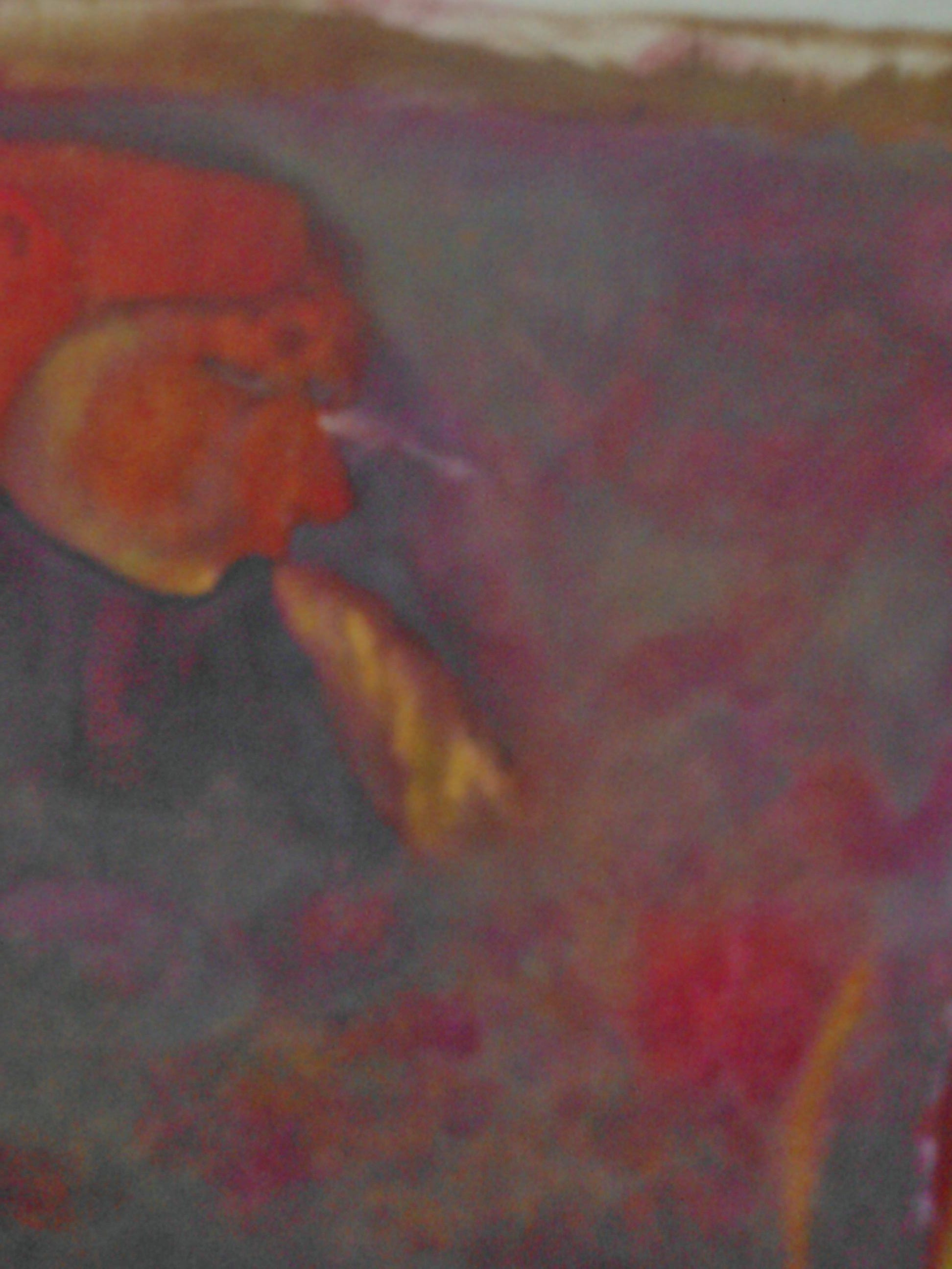 Puhaltaja, 27x31, 2014