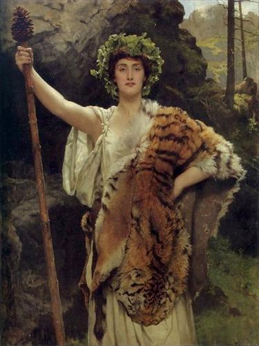 Priestess of Bacchus by John Collier