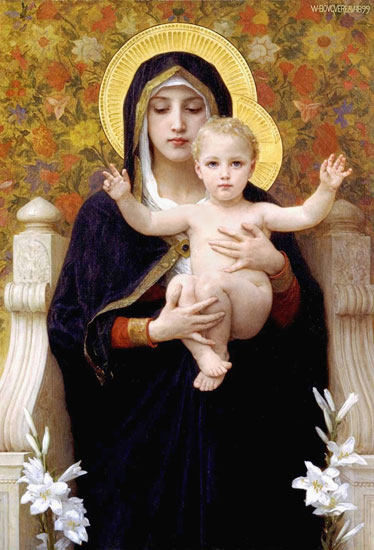 Madonna of the Lillies by William-Adolphe Bouguereau