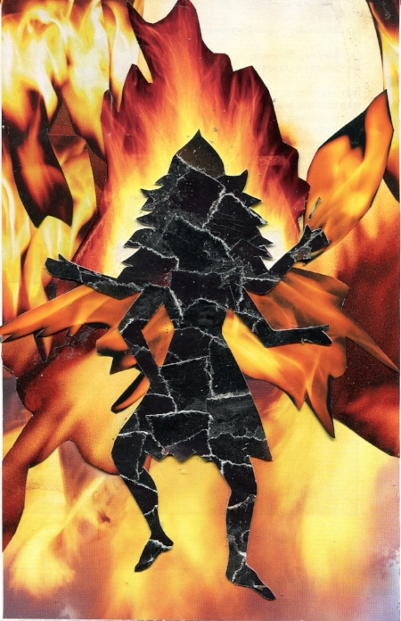 Kali, Fire Element, SoulCollage® card