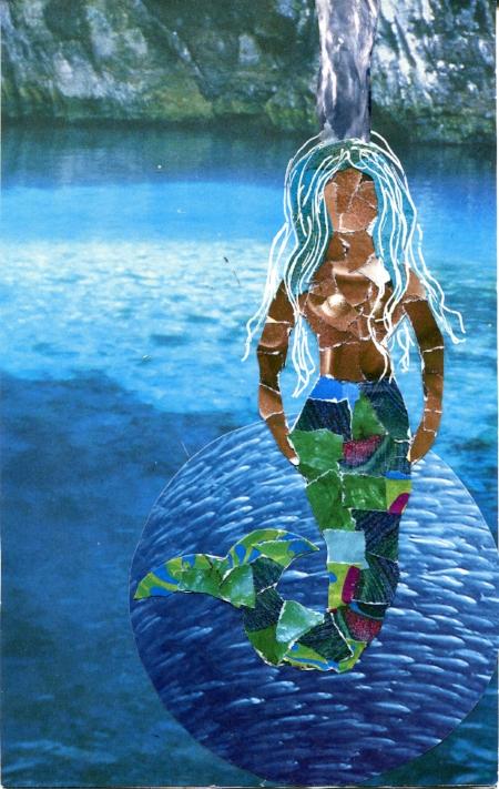 Yemaya, Water Element, SoulCollage® card