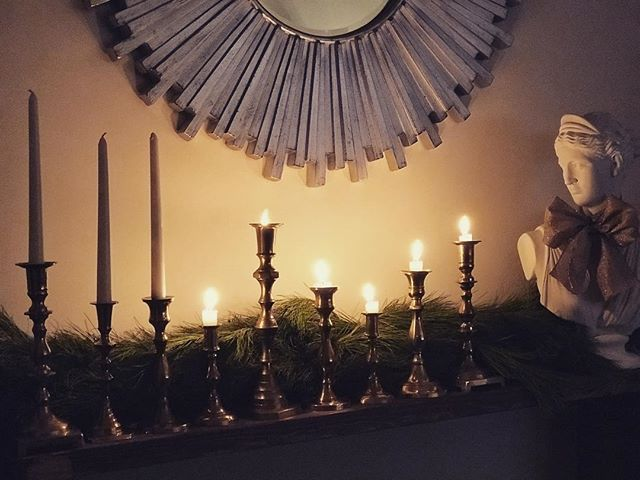 Views from last night - This year's vintage candlestick menorah 👌🏻#5thnight